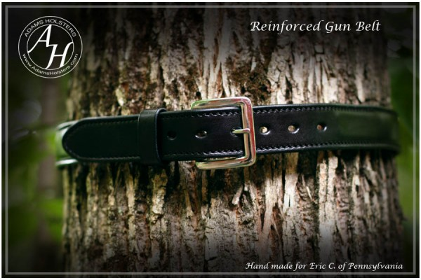 Heavy Duty Double thickness gun belts with reinforcement